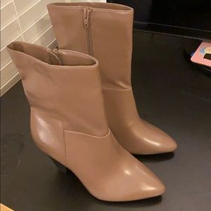 Brand New Taupe Color Heel Boot